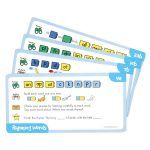 Learning Resources LSP7012UK Word Families/rhyming Word Card Set24