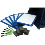 Show-Me Magnetic Dry Wipe Boards, Double-Sided 350 x 250mm (Pack of 6)